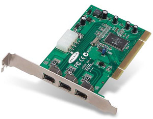 IEEE 1394 FireWire 3-Port PCI Card - With VideoStudios 5.0