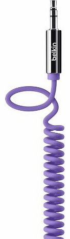 MixIt Colour Range 1.8m Coiled AUX Cable - Purple