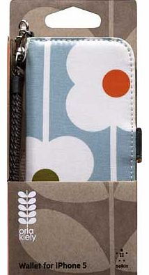 Orla Kiely Wallet Case for iPhone 5 -