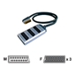 Pure AV Blue Series 3-in-1 SCART Adapter