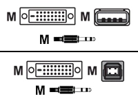 video / USB / audio cable kit - 3 m