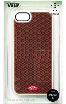 Waffle Sole Case for iPhone 5 - Brown/White