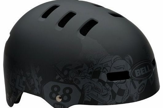 Faction 12 Vent High Impact BMX Skate Bike Cycling Lid Helmets (Charcoal DNA, Medium (55-59cm))