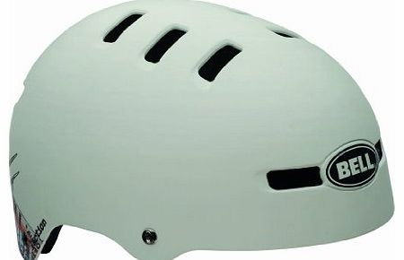 Faction 2013 BMX Dirt Bike Helmet White / Bone matte bone/rust #1 shocker Size:S