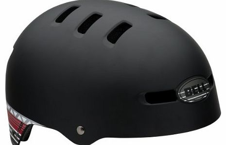 Faction 2013 BMX Dirt Bike Helmet with Stripes Black matte black Size:S