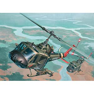 UH-1 Huey Hog plastic kit 1:48