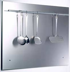 90cm Splashback With Utensil Holder For