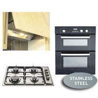 Built Under Double Oven XOU70F- Gas Hob GHU60GE and Integrated Hood ICH602