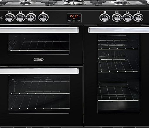 Belling COOKCENTRE 90DFT Freestanding 188L A Black - Kitchen (Freestanding, Large, Gas, 420 x 430 x 180 mm, A, 420 x 395 x 350 mm)