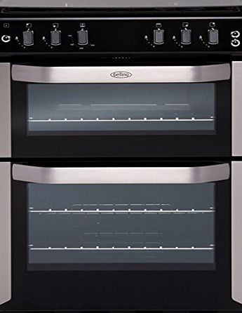 Belling FSG 55 TCF Stainless Steel 55cm Wide Double Cavity Fanned Gas Cooker