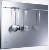 SPL90R 90cm Splashback with Utensil Rail