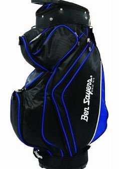 14 Way Divider Top Deluxe Cart Bag - Black/Blue