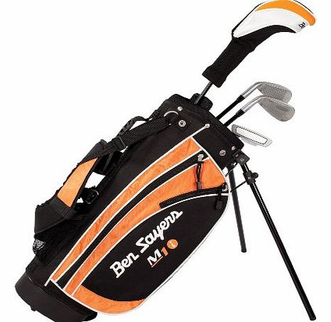 Kids M1i - (Black/Orange, Regular, Package set, Graphite, Right Hand) - Age 9-11