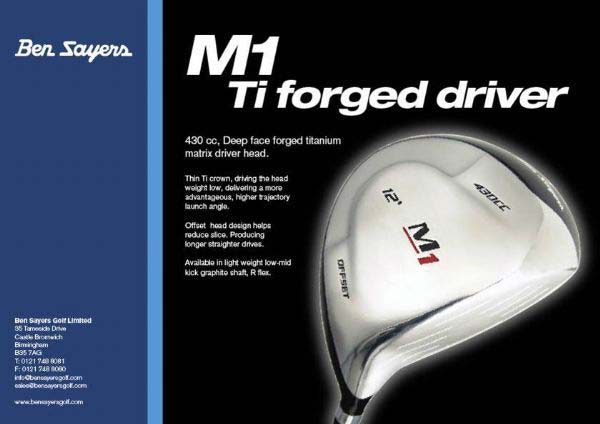 M1 Ti forged Alloy 430cc Golf Driver