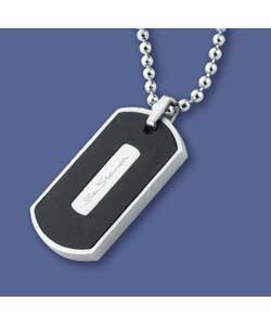 Black Leather Dog Tag