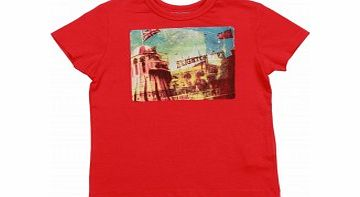 Boys Brighton T-Shirt in Red L16/D10