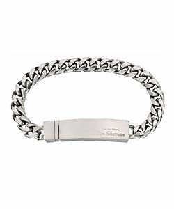 Brushed Chrome ID Bracelet