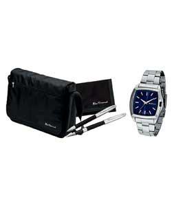 Gents Quartz Watch, Bag, Pen and Wallet Set