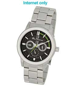 Gents Stainless Steel Multidial Quartz Watch