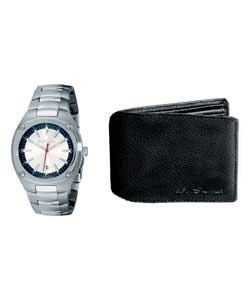 Gents Watch and Wallet Set