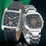 Mens Brown Sunray Dial Bracelet Watch