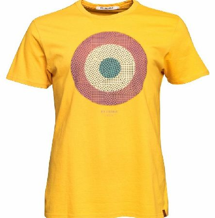 Mens Elevated Target T-Shirt Old Gold