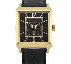 Mens Gold and Black Watch