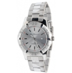 Mens Light Face Bracelet Watch Silver
