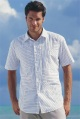 mens panelled striped shirt
