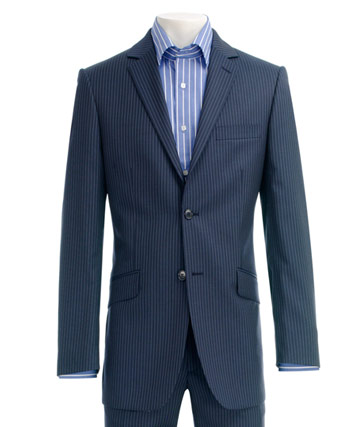 Ben Sherman Mens Suit Ben Sherman Blue Stripe