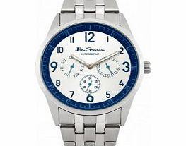Mens White Multi Dial Watch
