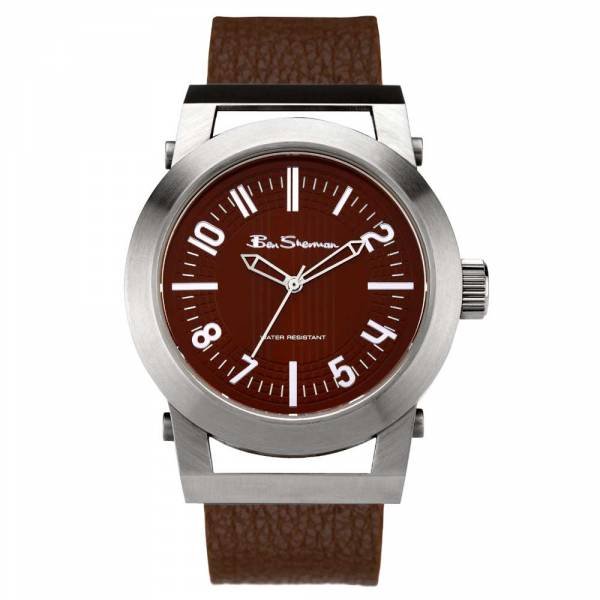 R691 Mens Leather Strap Watch