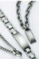 silver t-bar necklace with ring
