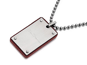 Two Textures Dog Tag 019526