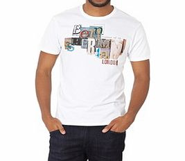 White pure cotton graphic print T-shirt