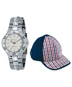 Youths Bracelet Watch and Baseball Cap Set