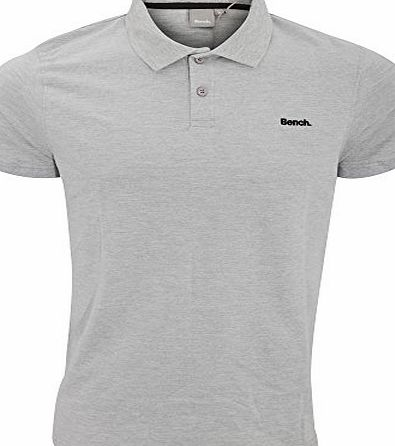 Bench Adults Mens Classic Short Sleeved Livedin B Pique Polo Shirt (Large) (Grey)