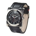 BC0047BK Watch with Black Leather Strap
