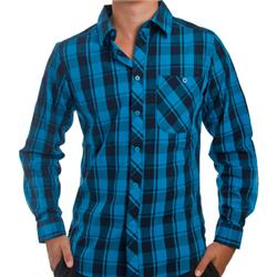 Cape Check Shirt - Blue Jewel