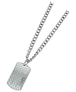 Gents Grid Dog Tag Pendant