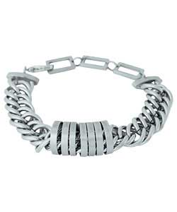 Gents Hoops and Chain Link Bracelet