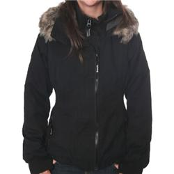 Ladies Big Boy Short Parka Coat - Black