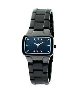 Ladies Black Stainless Steel Watch