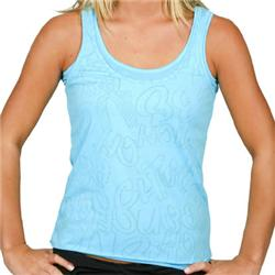 Ladies Cut Out Burnt Top - Sea Blue