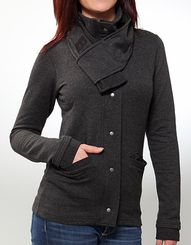 Mike Zip sweat jacket - Ebony