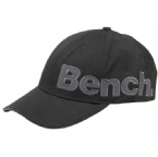 Mens Crowded Cotton Applique Baseball Cap Black/Grey