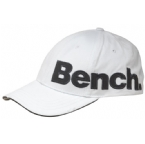 Mens Crowded Cotton Applique Baseball Cap White