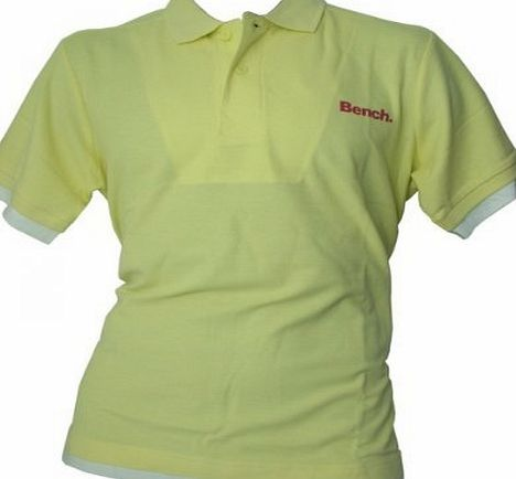 Bench Mens Polo T Shirt - Yellow - M