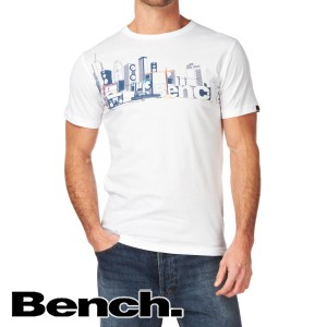 T-Shirts - Bench Check City T-Shirt - White