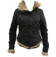 TREBLE ZIP FURBY JACKET - BLK745